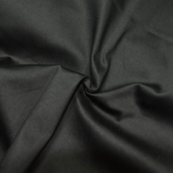Ткань костюмная Хлопок сатин (черный) купить оптом в Беларуси