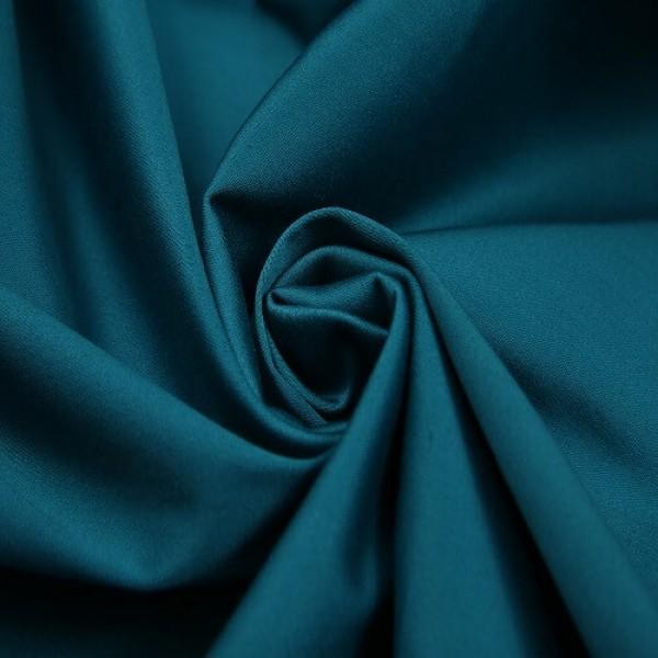 Ткань костюмная Хлопок сатин (морская волна) купить оптом в Беларуси