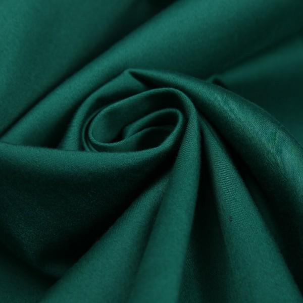 Ткань костюмная Хлопок сатин (темно-зеленый) купить оптом в Беларуси