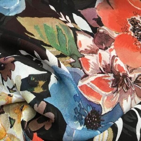 Ткань плательно-блузочная   Шифон принт купить оптом в Беларуси