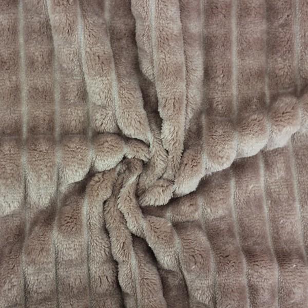 Трикотажное полотно Велсофт полоски (серый) купить оптом в Беларуси