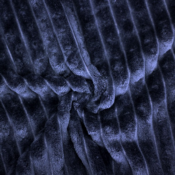 Трикотажное полотно Велсофт полоски (темно-синий) купить оптом в Беларуси