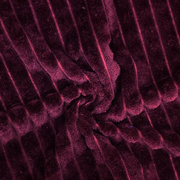 Трикотажное полотно Велсофт полоски (фиолетовый) купить оптом в Беларуси