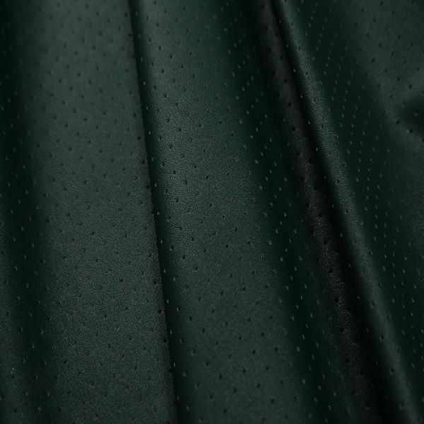 Ткань  Кожа искусственная, перфорация (зеленый) купить оптом в Беларуси