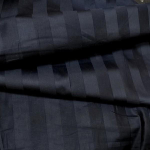 Ткань  Постельная Страйп-сатин 1х1 (черный) купить оптом в Беларуси