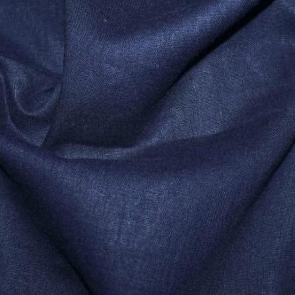 Ткань  Лен (темно-синий) купить оптом в Беларуси