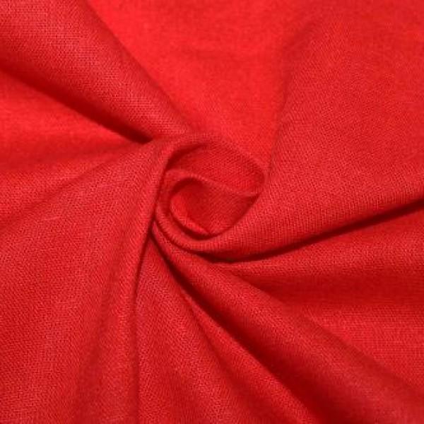 Ткань  Лен 2 (красный) купить оптом в Беларуси