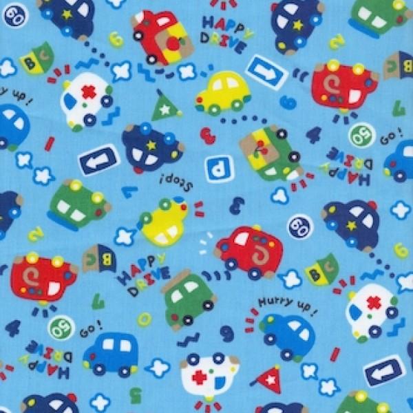 Ткань Тиси принт медицина/детский (голубой) купить оптом в Беларуси