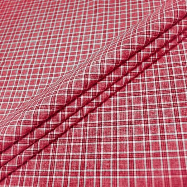 Ткань костюмная  Габардин клетка (красный) купить оптом в Беларуси