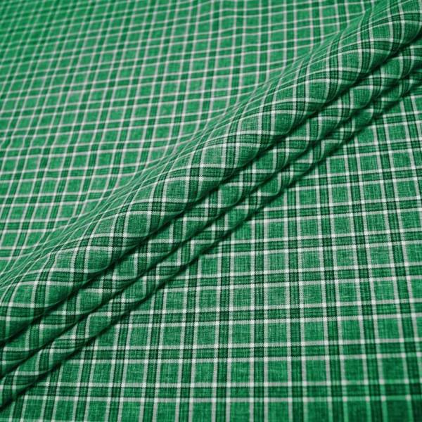 Ткань костюмная  Габардин клетка (зеленый) купить оптом в Беларуси