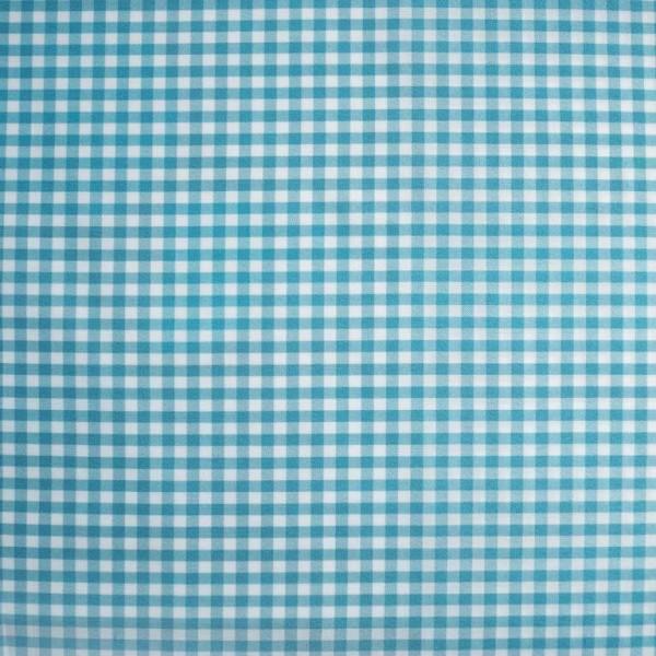 Ткань костюмная  Габардин клетка (бирюза) купить оптом в Беларуси