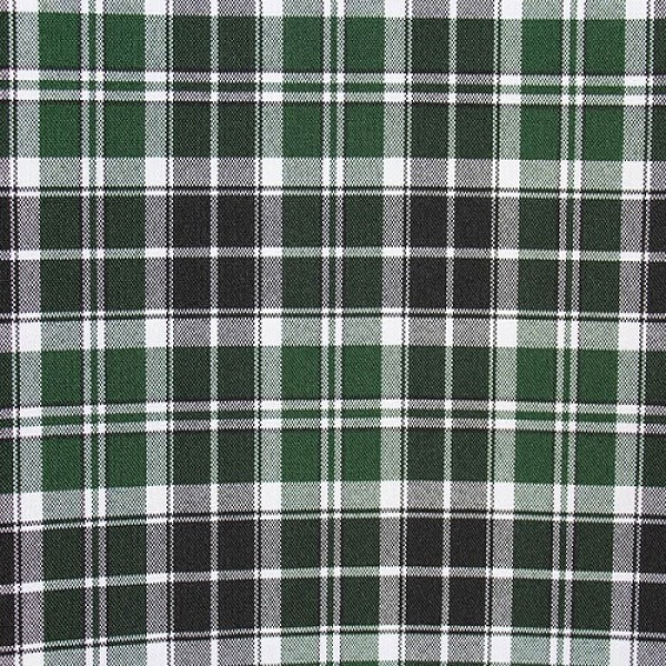 Ткань костюмная  Габардин клетка (зеленый-черный) купить оптом в Беларуси