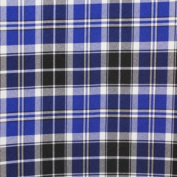 Ткань костюмная  Габардин клетка (сине-черный) купить оптом в Беларуси
