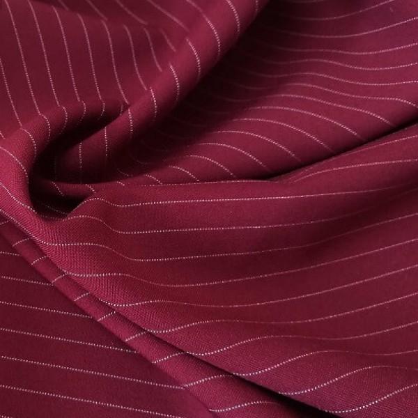Ткань костюмная  Габардин полоска (бордовый) купить оптом в Беларуси