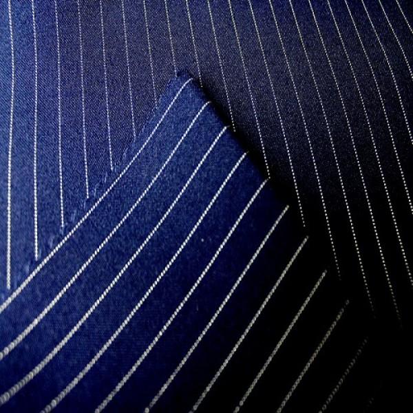 Ткань костюмная  Габардин полоска (синий) купить оптом в Беларуси